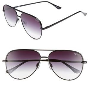 Quay Women's High Key Mini Aviator Sunglasses 53mm